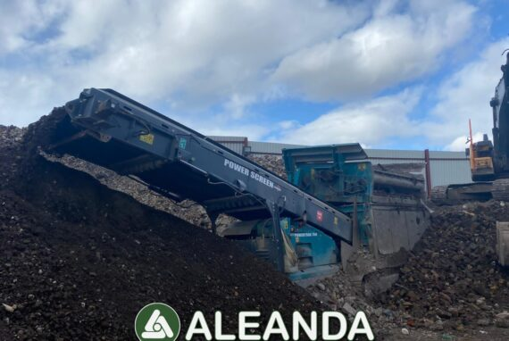 VIBRATING SCALPING SCREEN PLANT POWERSCREEN PT750 [1 068 h] [2017]